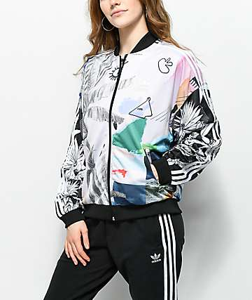 adidas x Farm Abstract Floral chaqueta de chándal