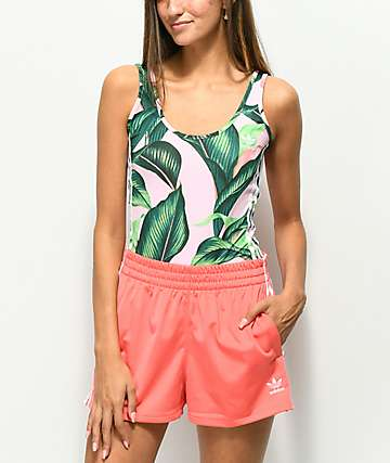 adidas x Farm Pink Palm Bodysuit
