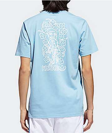 adidas x Krooked Clear Blue & White T-Shirt