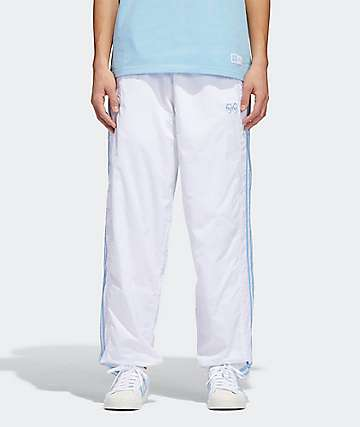 835dd8e4d3fb adidas x Krooked White   Clear Blue Track Pants