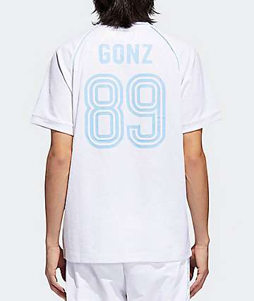adidas x Krooked White & Clear V-Neck Jersey