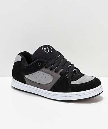 eS Accel OG Black, Charcoal & White Skate Shoes