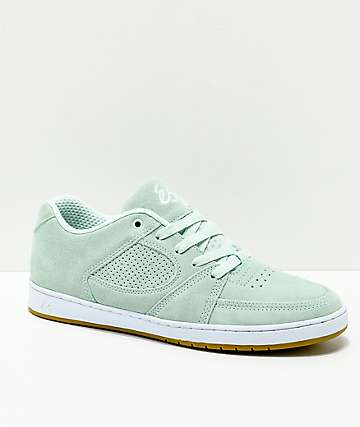 eS Accel Slim Artic Blue Suede Skate Shoes