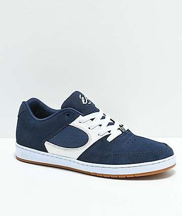 eS Accel Slim Asta zapatos de skate en azul y blanco