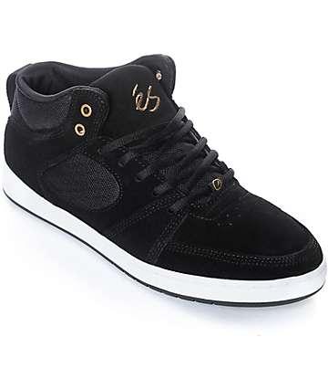 eS Accel Slim Black & White Mid Skate Shoes