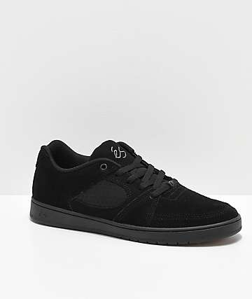 eS Accel Slim Black Skate Shoes
