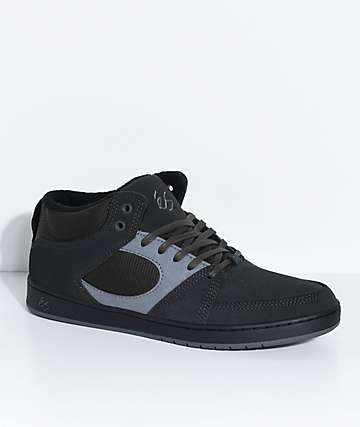 eS Accel Slim Dark Grey & Black Mid Skate Shoes