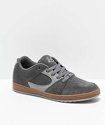 eS Accel Slim Grey & Light Grey Skate Shoes