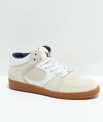 eS Accel Slim Mid Asta zapatos de skate en blanco y goma