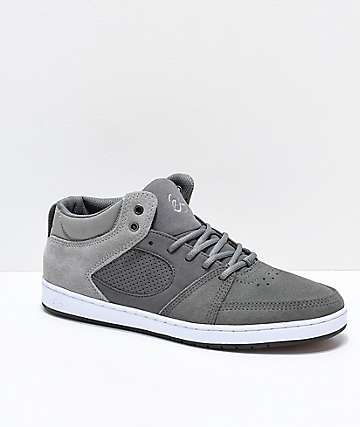 eS Accel Slim Mid Dark & Light Grey Skate Shoes