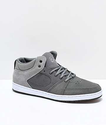 eS Accel Slim Mid Grey zapatos de skate grises