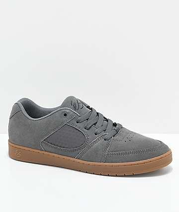 eS Accel Slim zapatos de skate de ante gris y goma