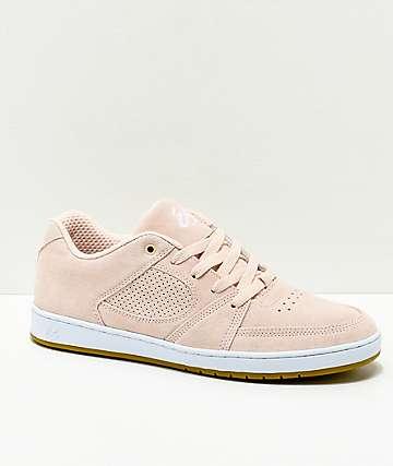 eS Accel Slim zapatos de skate de ante rosa polvoriento