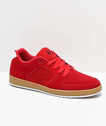eS Accel Slim zapatos de skate en rojo y goma