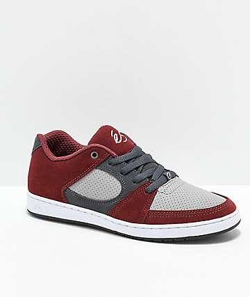 eS Accel Slim zapatos de skate rojos y grises