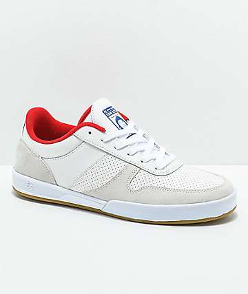 eS Contract Tom Asta zapatos skate en blanco y rojo