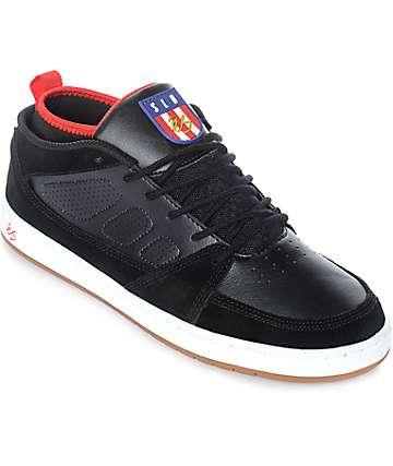 eS SLB Mid zapatos de ante y cuero en blanco y negro