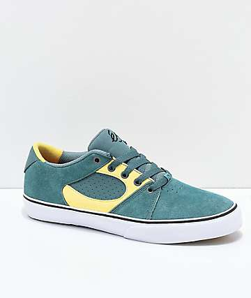 eS Square Three Green, Gold and White Skate shoes