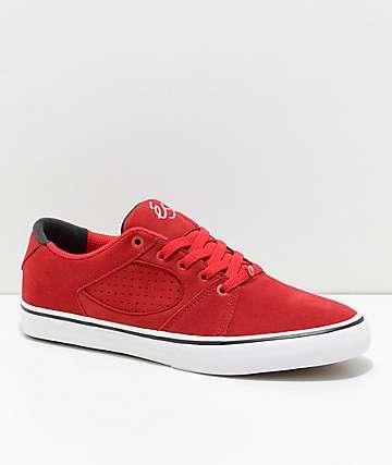 eS Square Three zapatos de skate en rojo y blanco