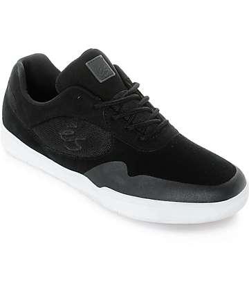 eS Swift Black & White Suede Shoes