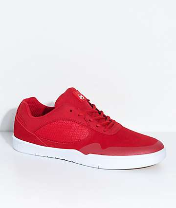 eS Swift Red & White Suede Shoes