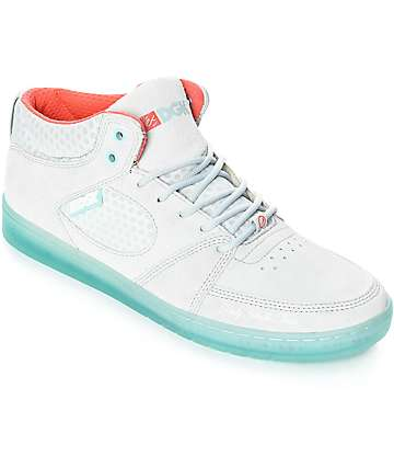 eS x DGK Accel Slim Mid Grey & Blue Skate Shoes