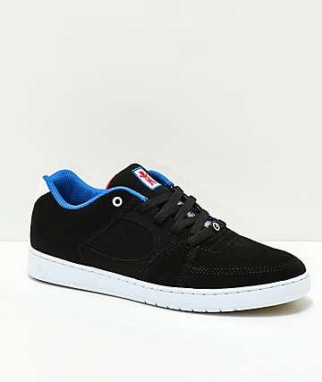 eS x Grizzly Accel Slim zapatos de skate en negro y blanco