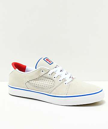 eS x Grizzly Square Three White & Blue Skate Shoes