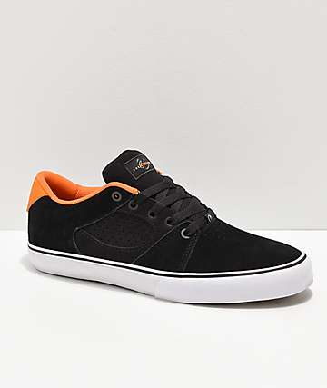 eS x Nine Club Square Three zapatos skate negros y anaranjados
