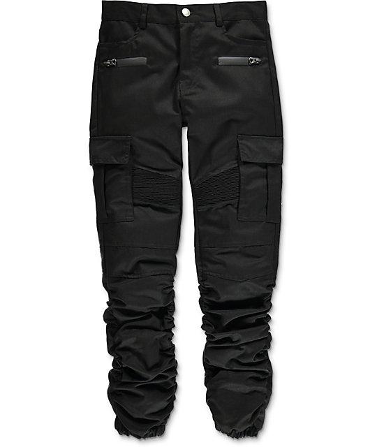 696d3aca American Stitch Boys Black Cargo Twill Scrunched Jogger Pants | Zumiez