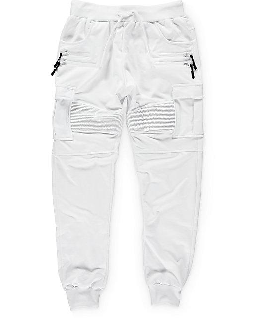 san francisco 77f04 3504d American Stitch White Cargo Terry Jogger Pants ...