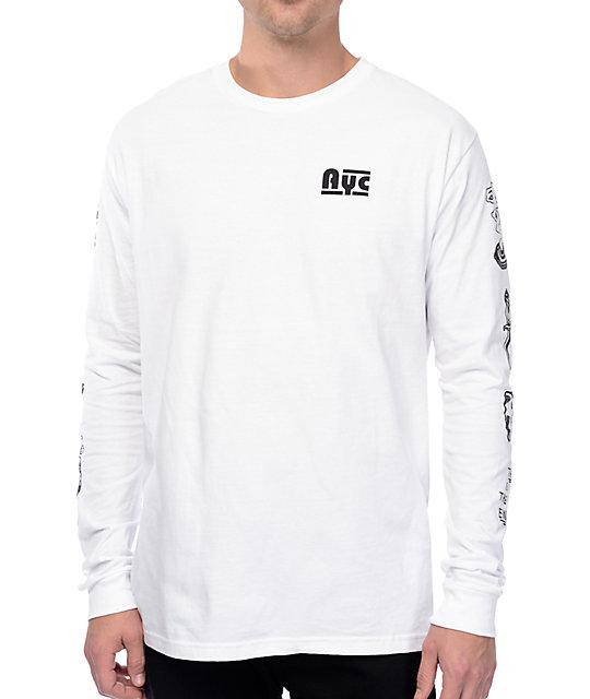 aaef36dac0 Asphalt Yacht Club Riley Flash White Long Sleeve T-Shirt | Zumiez