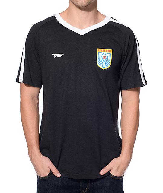 detailed look 675eb 8803d Benny Gold Eagle Black Soccer Jersey T-Shirt