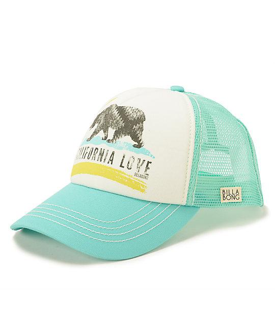 74a919c83bfbc6 Billabong Pitstop Cali Love Mint Trucker Hat | Zumiez
