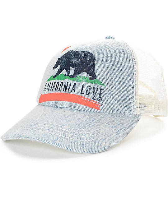 f9a4076c0 Billabong Pitstop Indigo Trucker Hat