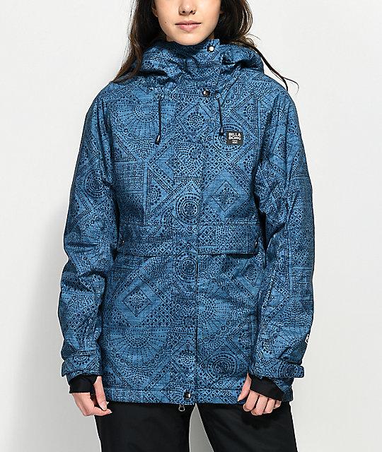 size 40 9963c 12b05 Billabong Tundra Indigo Blue 10K Snowboard Jacket