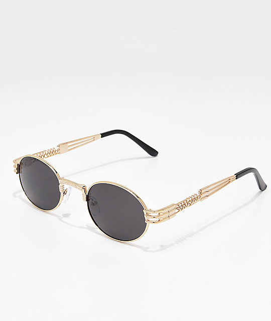 4d894dca7a Black   Silver Round Sunglasses