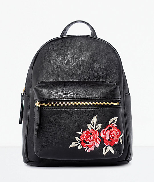ee276484ac Black Rose Embroidered Mini Backpack