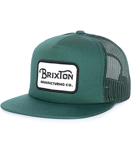 dbf43fb0445 Brixton Grade Chive Trucker Hat | Zumiez