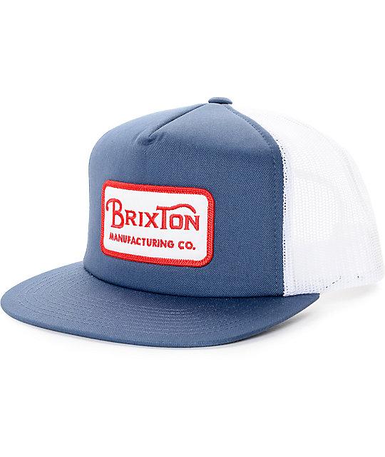 17c1009624d Brixton Grade Navy Trucker Hat | Zumiez