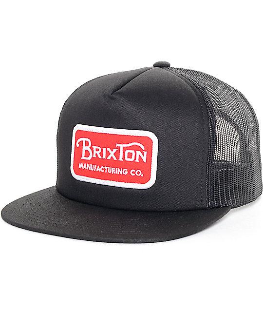 9b559453604 Brixton Grade Red & Black Mesh Trucker Hat | Zumiez