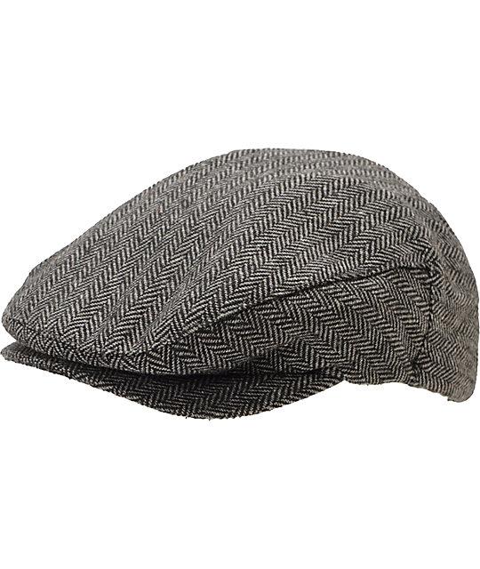 ed09f53970967 Brixton Hooligan Grey & Black Snap Cap | Zumiez