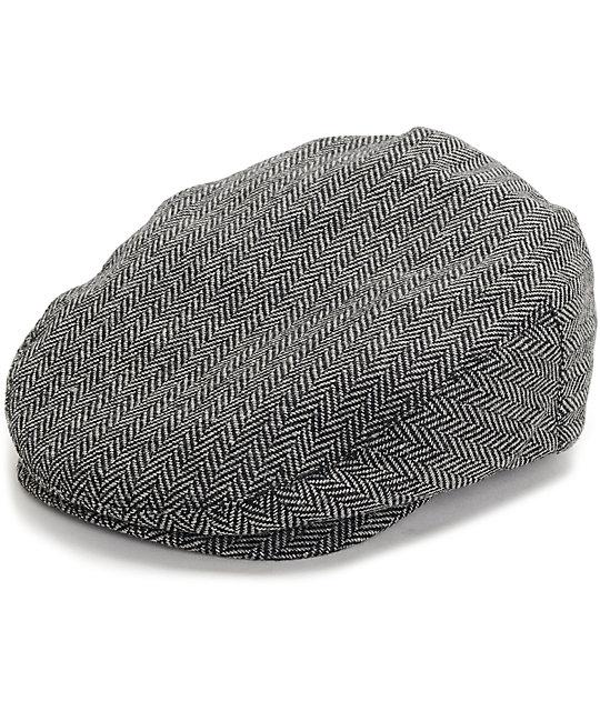 0d5adb5bb6e31 Brixton Hooligan Grey Herringbone Snap Newboy Cap | Zumiez