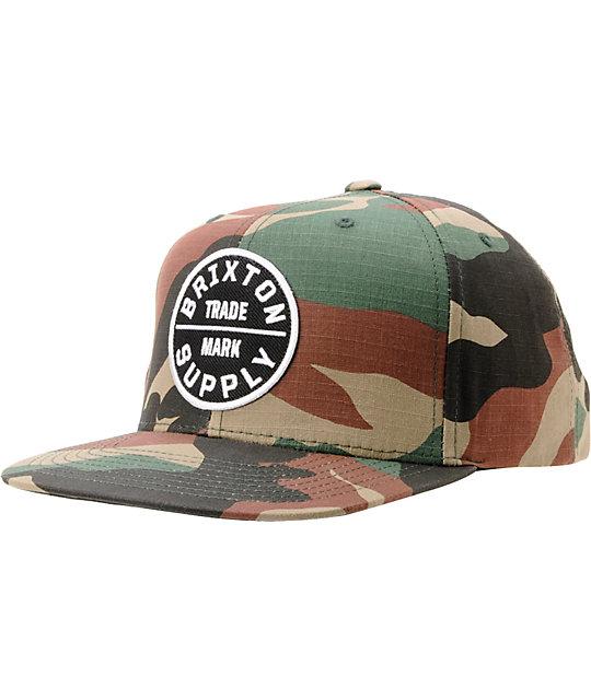 def23ec0 Brixton Oath III Camo Snapback Hat | Zumiez