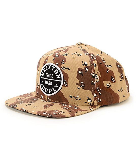 d81a6e60 Brixton Oath III Desert Camo Snapback Hat | Zumiez