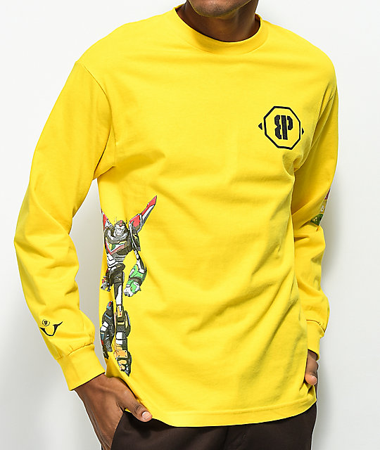 half off 0c91a 70f41 Brooklyn Projects Voltron Defender Hazard Yellow Long Sleeve T-Shirt