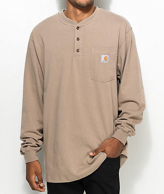 d8a61fbb7 Carhartt Workwear Desert Long Sleeve Henley T-Shirt | Zumiez