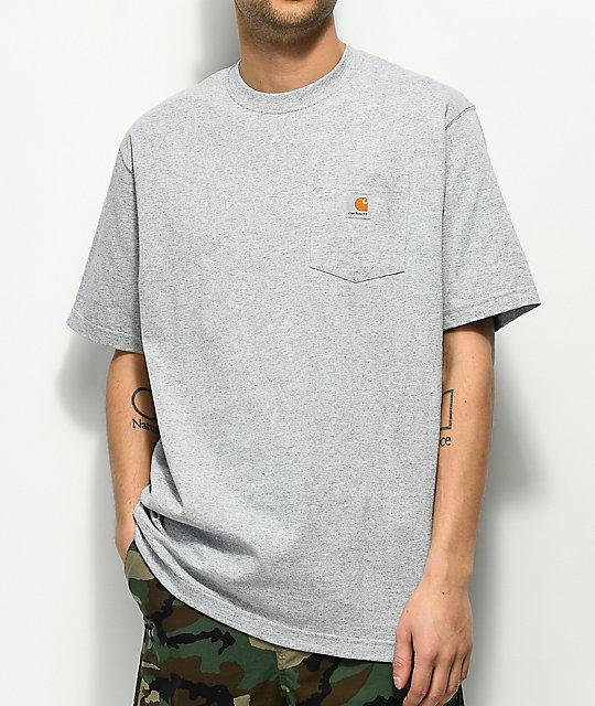 e93a73e335f0 Carhartt Workwear Heather Grey Pocket T-Shirt | Zumiez