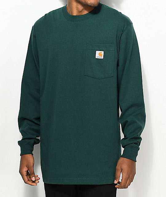 2fe652f1a84b0a Carhartt Workwear Hunter Green Long Sleeve T-Shirt | Zumiez