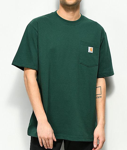 56da27f4970578 Carhartt Workwear Hunter Green Pocket T-Shirt | Zumiez